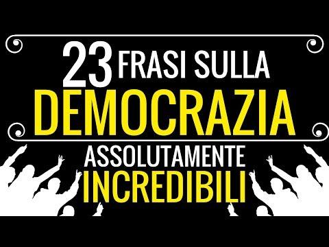 23 frasi sulla DEMOCRAZIA (Assolutamente incredibili)