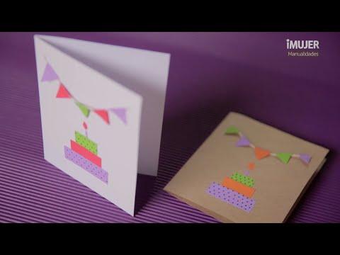 Tarjetas De Cumpleaños Cómo Hacer Invitaciones Imujerhogar