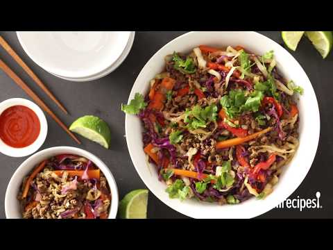 Ground Beef Recipes – How to Make Addictive Asian Beef Slaw