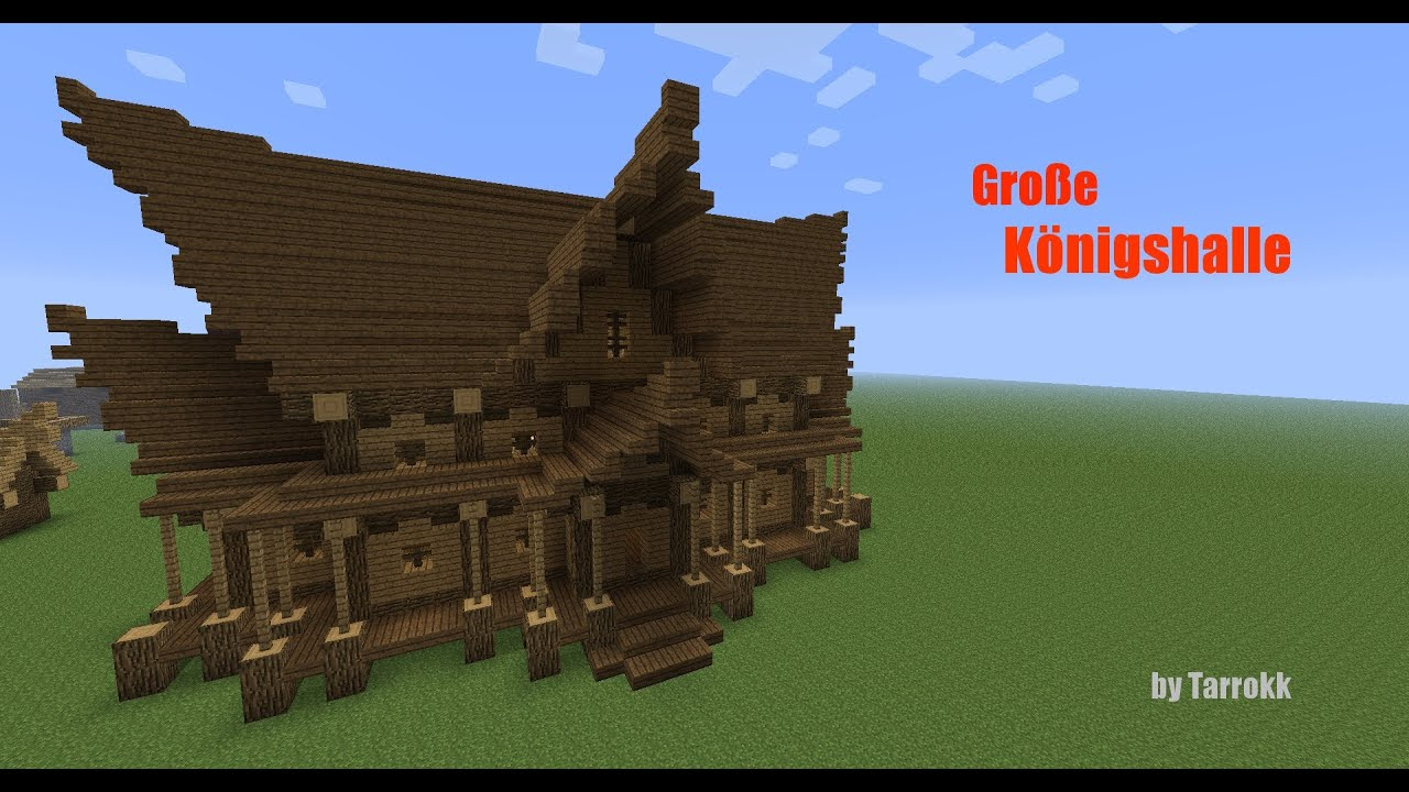 Minecraft gro e k nigshalle tutorial episode 1 youtube for Minecraft modernes haus download 1 7 2
