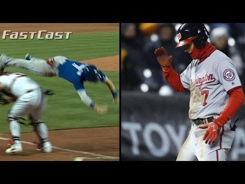 4/25/17 MLB.com FastCast: Coghlan leaps, Trea cycles