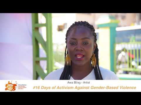Gambian artist, Awa Bling shares her #iBelieve message for 16 Days of Activism against GBV