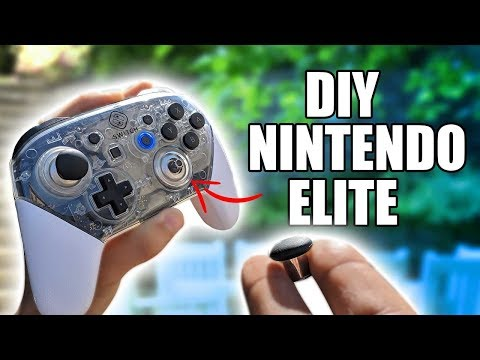 Nintendo Pro Controller INTO Elite Xbox One Controller Mod - Improved The Grip And Joysticks