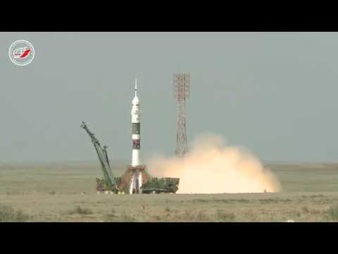 Старт ракеты-носителя «Союз-ФГ» с ТПК «Союз МС-09»