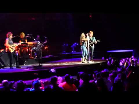 Bon Jovi - Who Says You Can't Go Home w/Morgen Sherwood - Mohegan Sun - Blizzard show 2-9-13