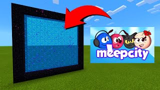 How To Make A Portal To The Roblox MeepCity Dimension in Minecraft!