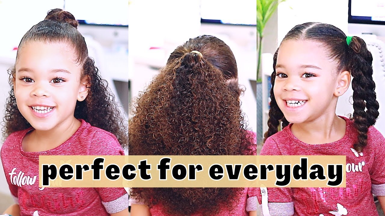 10 Hairstyles For Curly Mixed Hair Easy Toddler Curly Hair Tutorial