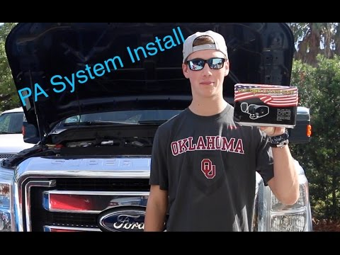 How to Install a PA System in Your Vehicle | 2011 F-250 Powerstroke