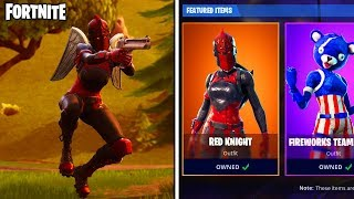 "RED KNIGHT *RETURNS* to the ITEM SHOP in FORTNITE... UNLOCK the RARE ""RED KNIGHT"" SKIN in FORTNITE!"