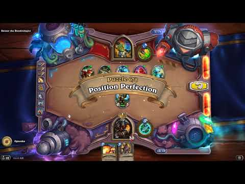 HearthStone Puzzles - Board Clear Puzzles, Dexter The Dendrologist Walkthrough.
