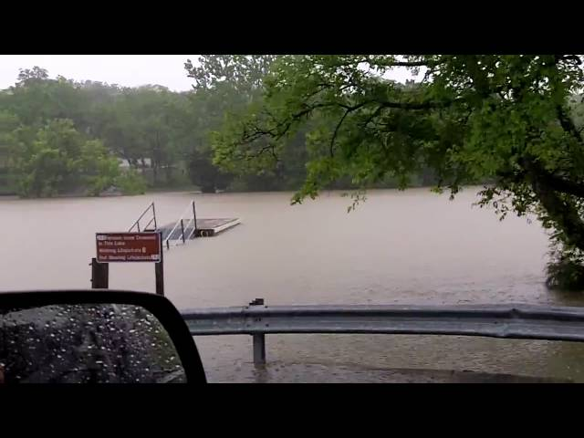 Boat Dock Overflowing down by the Cumberland - Nashville Flood 2010