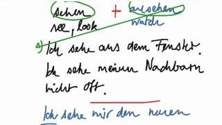 Learn German Vocabulary with Deutsch Happen - sehen oder ansehen