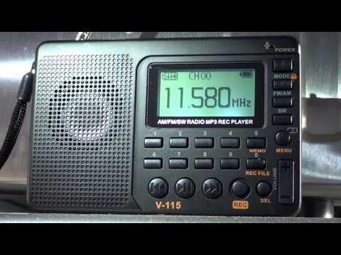 Radio Ukraine via WRMI 11580 Khz Shortwave on Tivdio V115