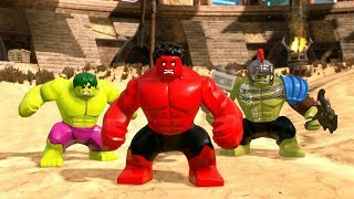LEGO Marvel Super Heroes 2 - All Hulks Characters (Free Roam)