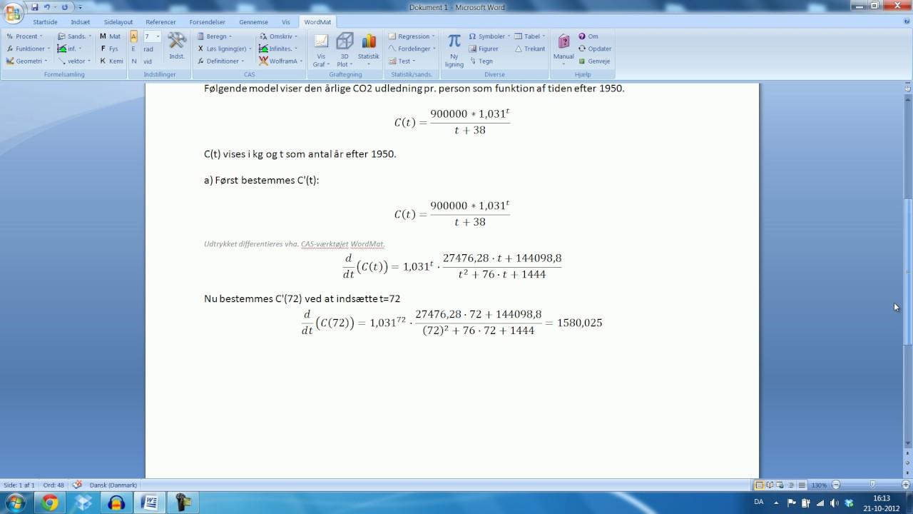 Skriftlig eksamen Mat B - 15. August 2012 Opgave 10
