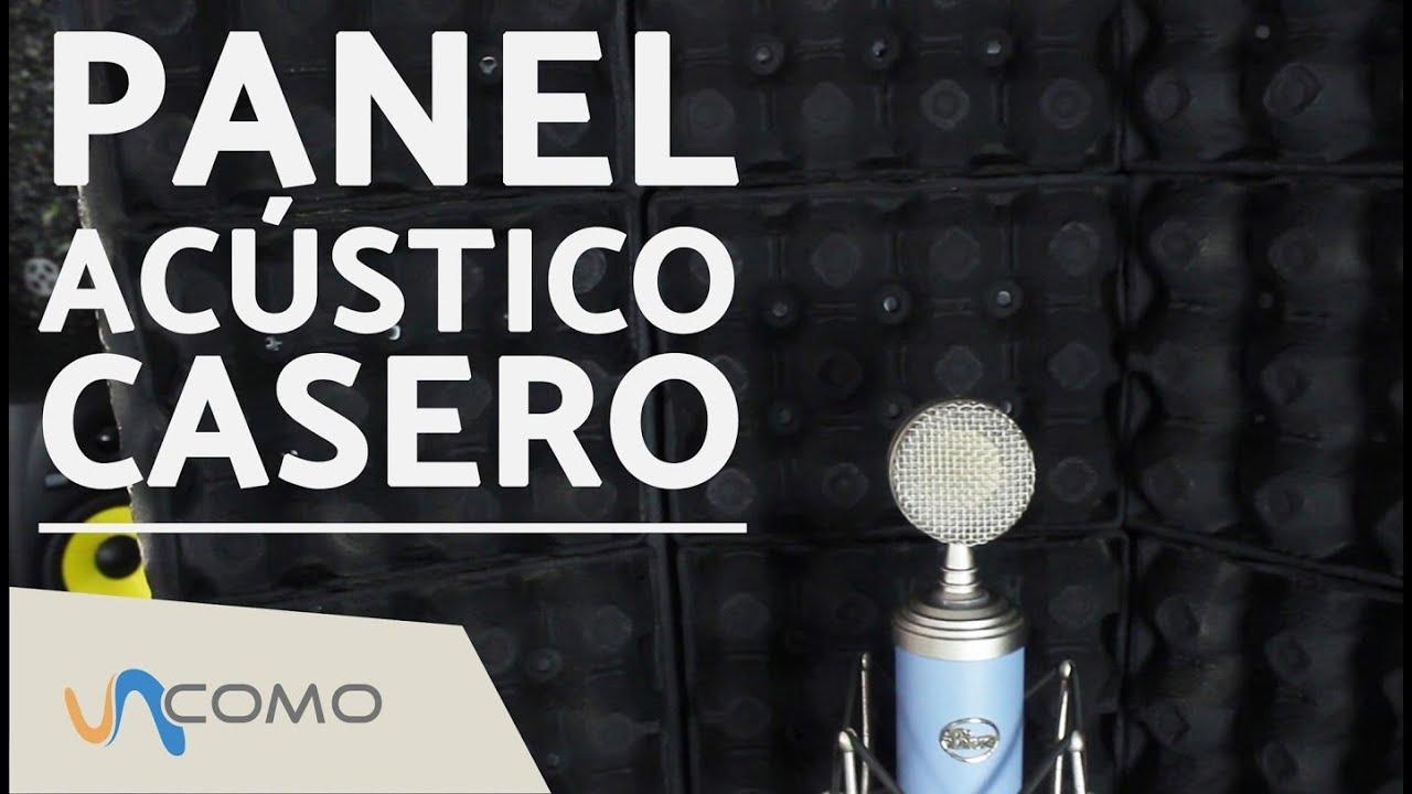 panel ac stico casero para el micr fono youtube