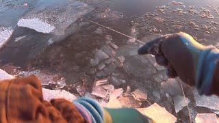 Закидушки во льду Река Алдан