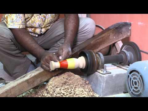 How Maldivian Liyelaa / Lacquerwork is made - Mechanical method