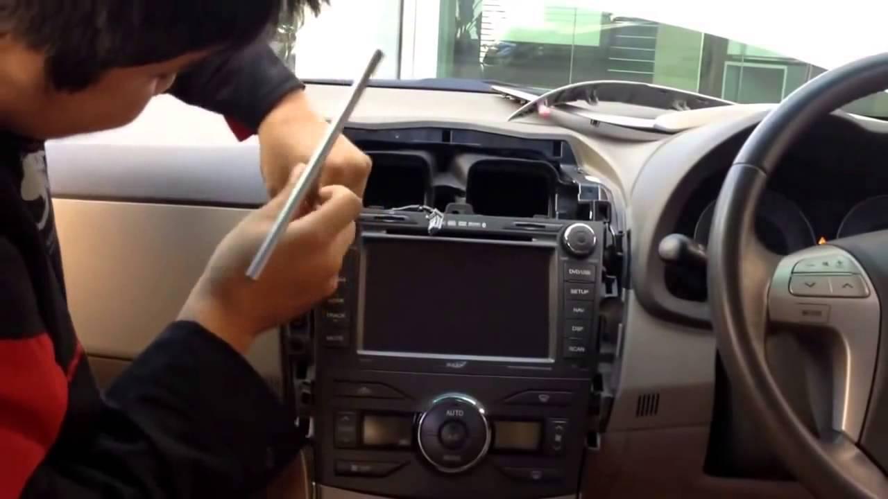 ���อดหน้ากากวิทยุ Toyota Altis Www Ponecaraudio Com Youtube
