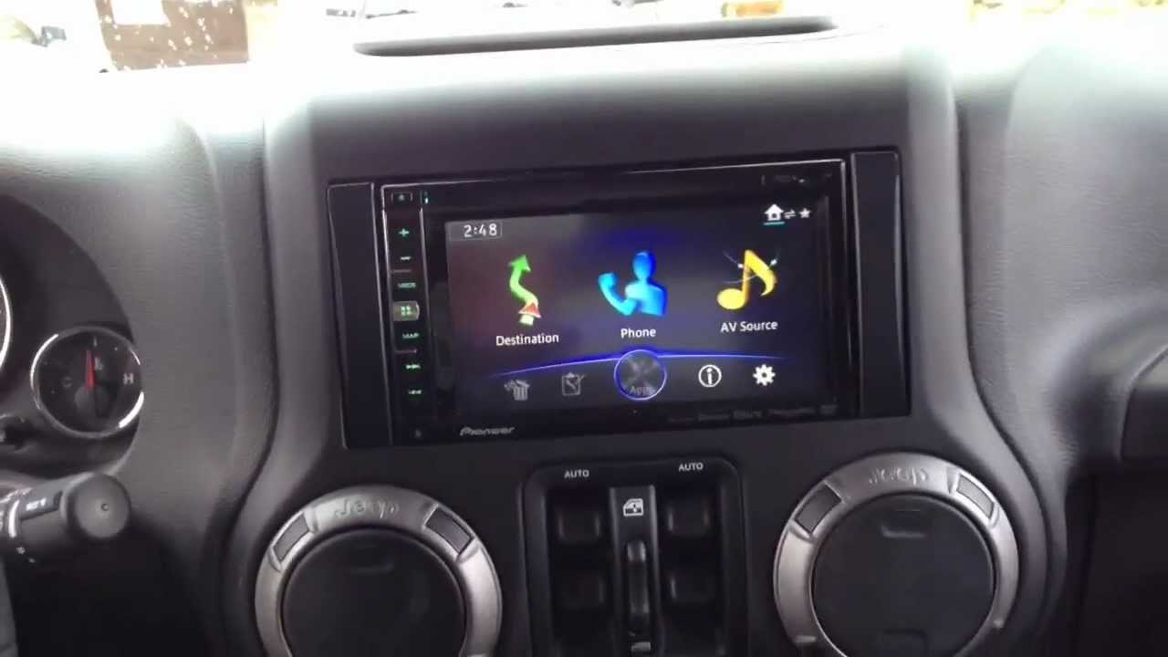 jeep wrangler 2013 with new pioneer avicx850bt youtube