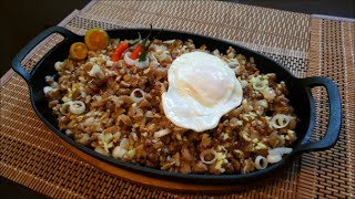 "SISIG ""PORK SISIG"" IN SIZZLING PLATE - AUTHENTIC FILIPINO FOOD"