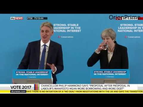 Theresa May & Philip Hammond Responding to Labour's Manifesto. w/Q&A. 17th May 2017