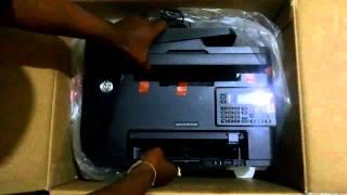 Unwrapping HP LaserJet Pro MFP M128fn Printer Open Box