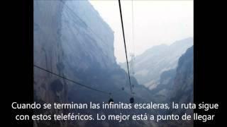 el camino mas peligroso del mundo,monte huá shan,china