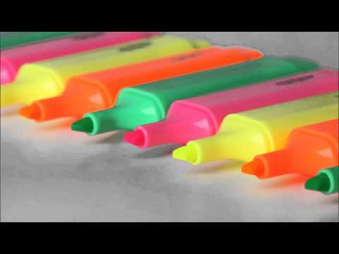 (3D binaural sound) Asmr writing with a marker on a glossy paper tube & relaxing sounds of doodling