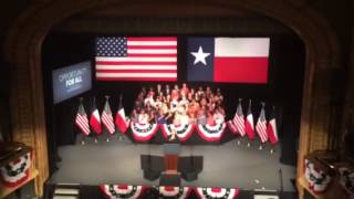 National Anthem and Pledge of Allegiance performed at Obama