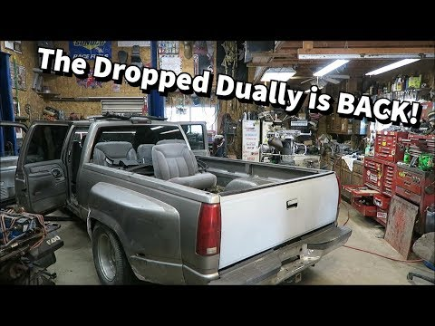Putting NBS Seats In The OBS Dually. Owner Was MAD We Had To Cut The Floor!