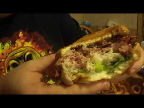 Arby's brown sugar bacon half pound club sandwich