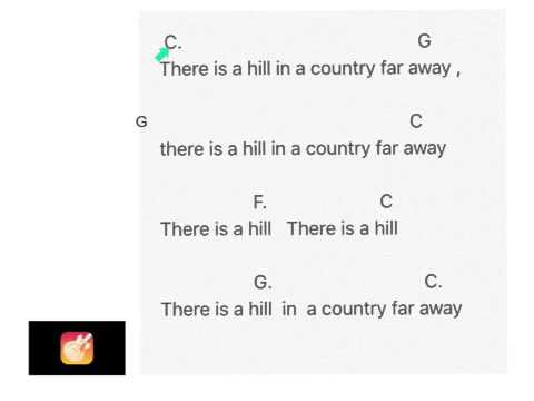 There is a hill in a country far away - YouTube