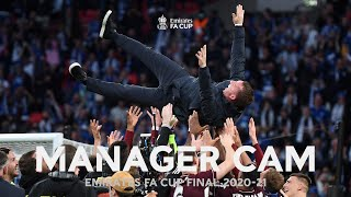 MANAGER CAM | Chelsea v Leicester City | Rodgers Wins First Major Trophy | Emirates FA Cup Final