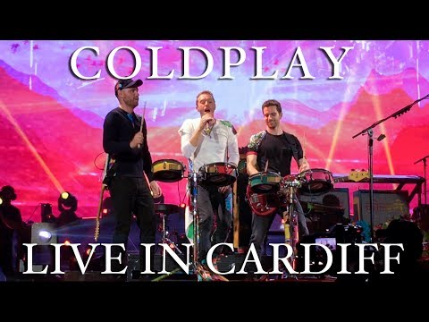 Coldplay live in Cardiff