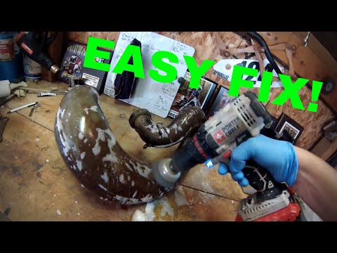 HOW TO CLEAN A 2 STROKE PIPE (THE EASY WAY)