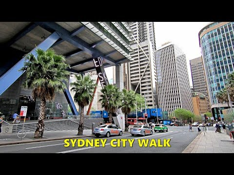 SYDNEY CITY - Walking From SYDNEY HOSPITAL To WYNYARD Station George Street Via Hunter Street