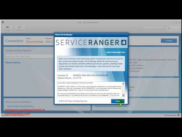 EATON Serviceranger 4 Eaton Roadranger Diagnostic Software