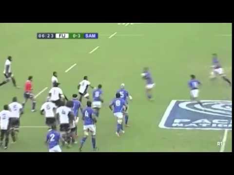 Leota crashing against Tonga