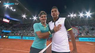 Federer vs Kyrgios: Highlights from First Ever Match at Madrid 2015