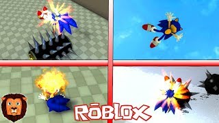 TUTTI I MORTI SONIC IN ROBLOX SONIC WORLD ADVENTURE ROBLOX LEON PICARON