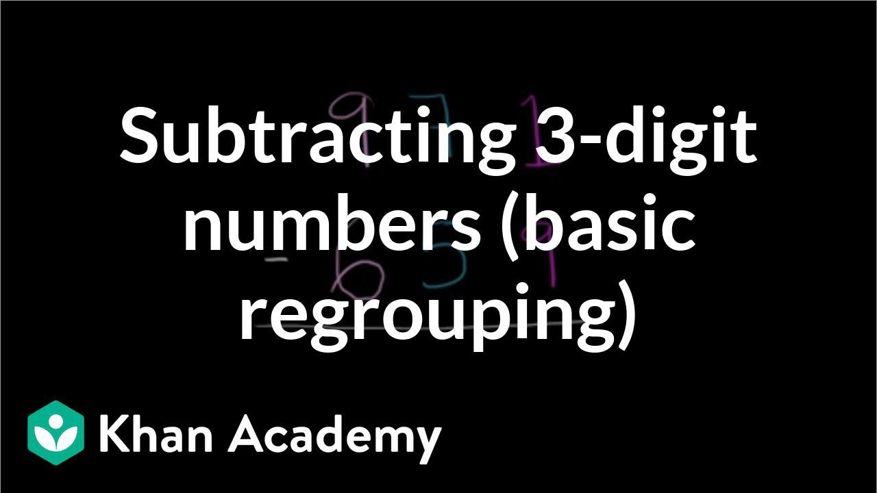 Worksheet Khan Academy Subtraction worked example subtracting 3 digit numbers regrouping video khan academy
