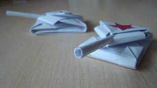 Как сделать танк из бумаги. Оригами ТАНК. How to make a paper tank - Origami