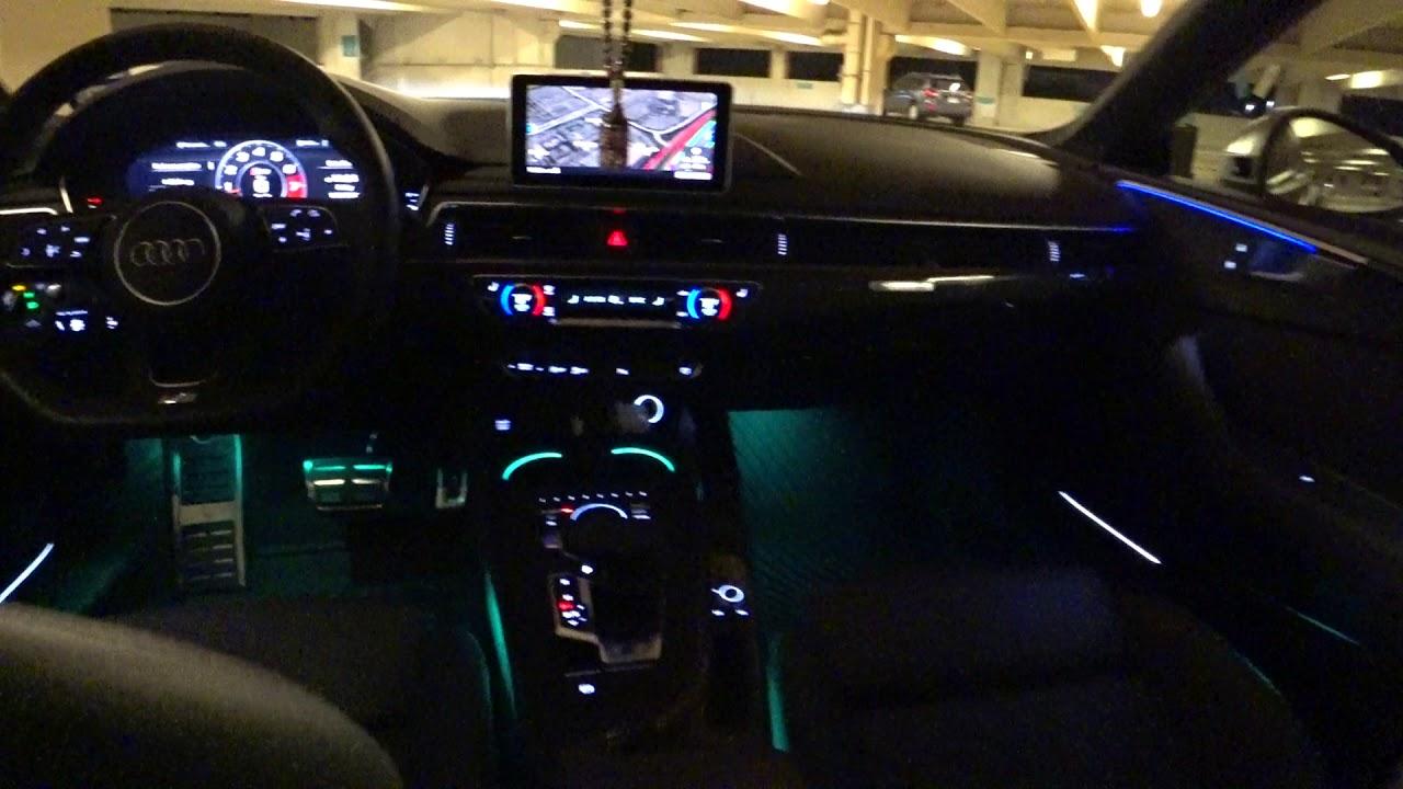2018 audi s5 coupe prestige interior lighting at night youtube2018 audi s5 coupe prestige interior lighting [ 1280 x 720 Pixel ]
