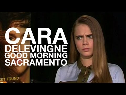 Cara Delevingne Interview 2015 Good Morning Sacramento: Paper Towns, Wrong Name, Red Bull, Sarcasm