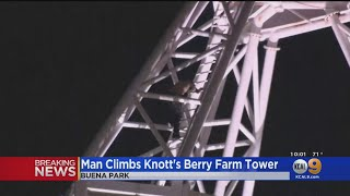 Man Who Climbed Knott's Berry Farm's Supreme Scream Ride Detained, Transported To Local Hospital