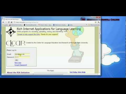 Introduction to the Rich Internet Applications for Language Learning by CLEAR