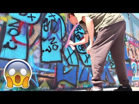 FIRST TIME PAINTING GRAFFITI!!