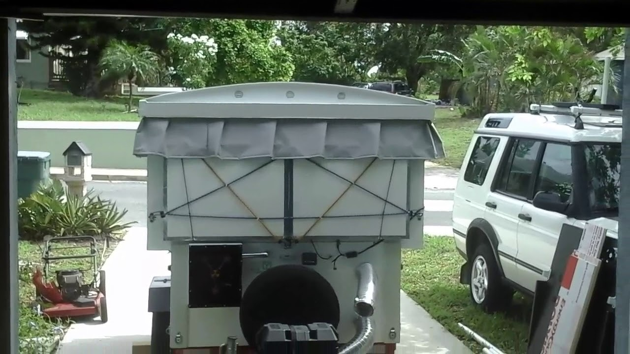folding micro camper on harbor freight trailer part 1 youtube