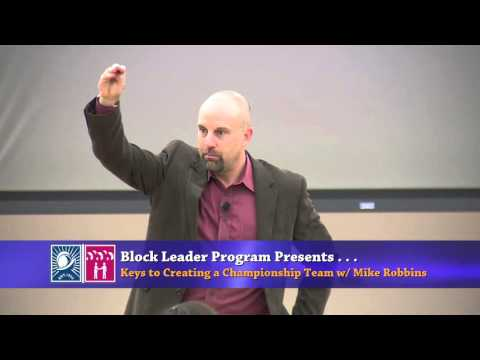 """""""Keys to Creating a Championship Team"""" by Mike Robbins"""